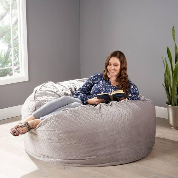 Cool Shop Arnside Glam 4 Foot Quilt Patterned Velvet Beanbag By Cjindustries Chair Design For Home Cjindustriesco