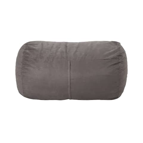 Barry Traditional 4 Foot Suede Bean Bag (Cover Only) by Christopher Knight Home