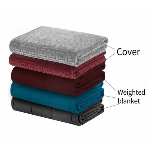 MerryLife Weighted Blanket With Duvet Cover Removable