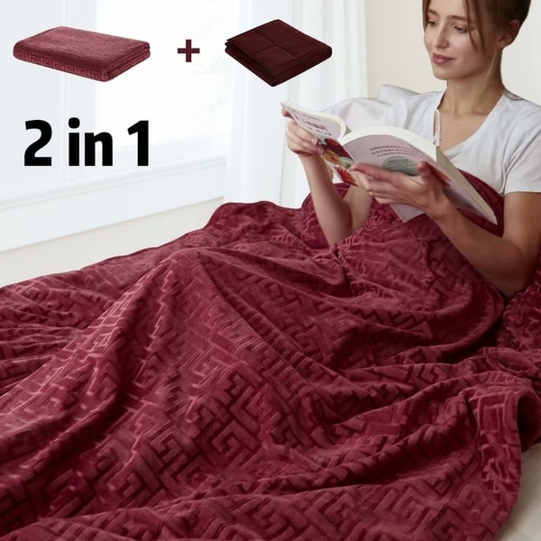 """Weighted Blanket 15lbs 60 X 80"""" Premium Heavy Blanket 100% Cotton The Latest Fashion Bedding"""