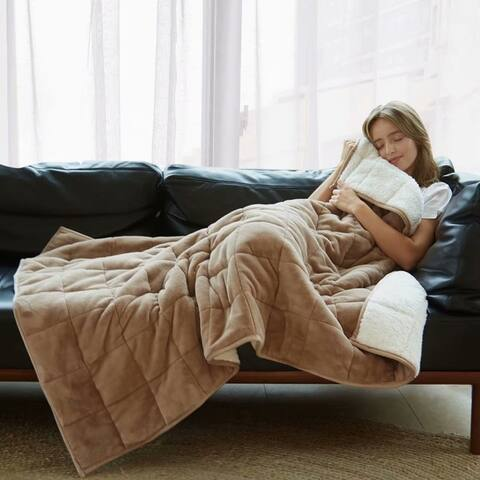 Merrylife Adult 10 lb Sherpa Weighted Blanket