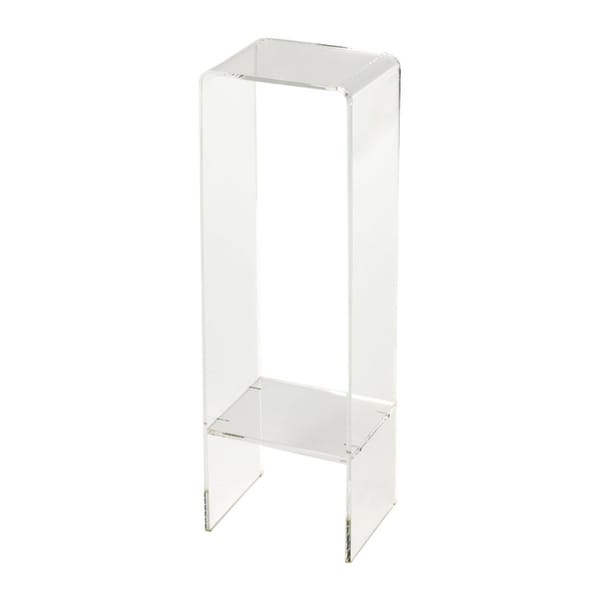 Modern Rectangular Crystal Clear Acrylic Plant Stand by Generic