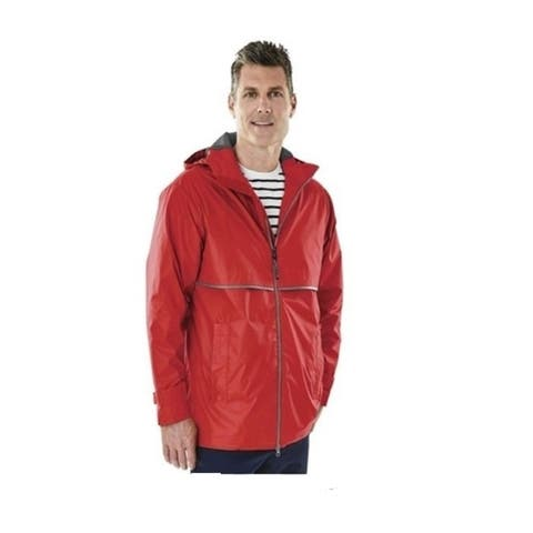 Charles River Men's Englander Rain Jacket Medium Red