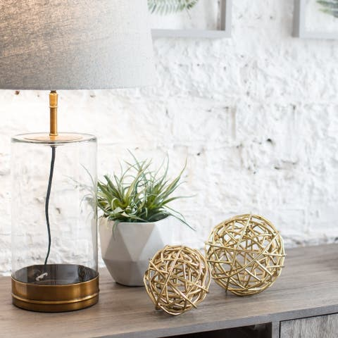 The Curated Nomad Augustine Metal Sphere 2-piece Sculpture Set - 6*6