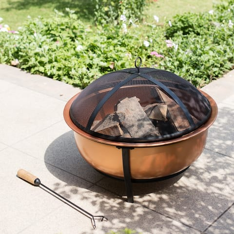 Thruxton Copper Wood Burning Fire Pit