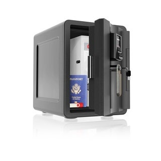 Waterproof Fire and Theft Safe - Black