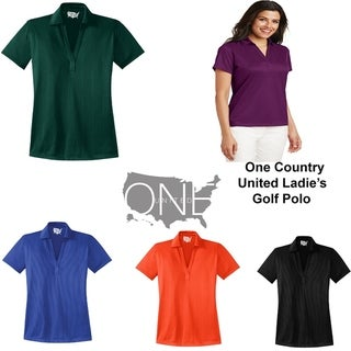 Link to One Country United Ladies Moisture Wicking Solid Golf Polos in XS-4XL Similar Items in Girls' Clothing