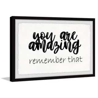 Marmont Hill - Handmade You Are Amazing II Framed Print