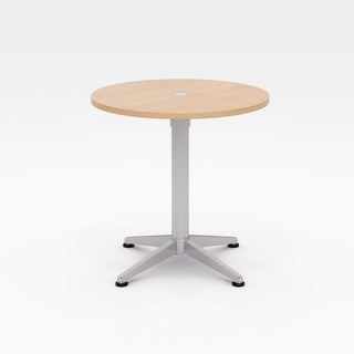 Olio Designs Workwell Round Pedestal Table, Fixed Base