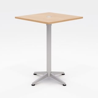 Olio Designs Workwell Square Bistro Table, Fixed Base