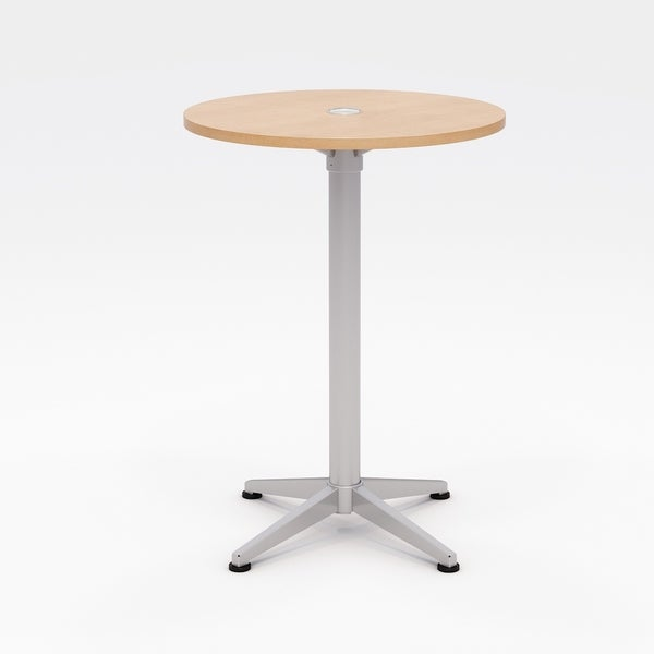Olio Designs Workwell Round Bistro Table, Fixed Base