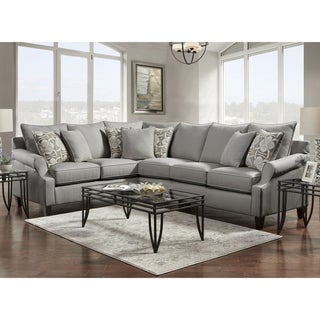 SofaTrendz Bane Gray Sectional