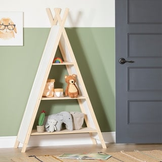 Link to South Shore Sweedi Natural Cotton and Pine Teepee Shelving Unit - 3-Shelf Similar Items in Kids' Storage & Toy Boxes