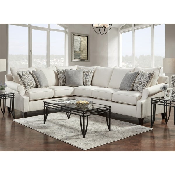 SofaTrendz Bradshaw Cream Sectional