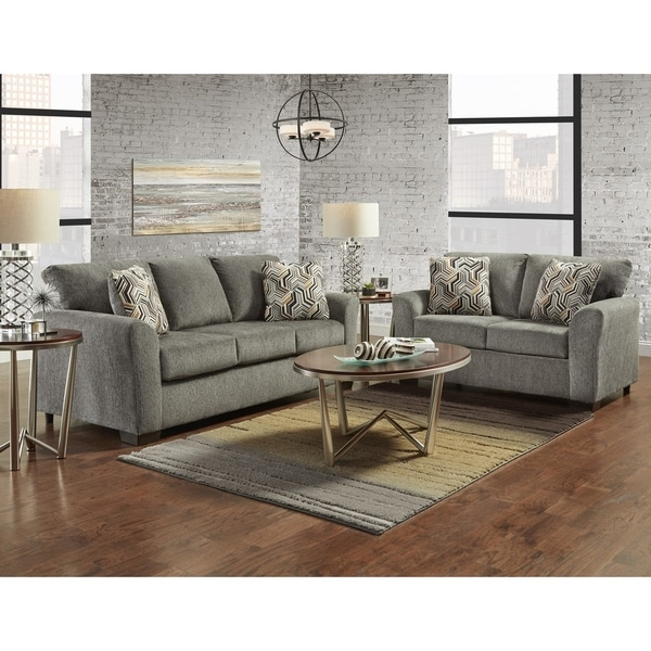Marvelous Sofatrendz Cariana Grey Sofa Loveseat 2 Pc Set Interior Design Ideas Clesiryabchikinfo