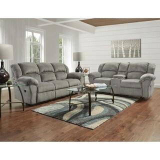 SofaTrendz Cassie Grey Reclining Sofa & Loveseat 2-pc Set