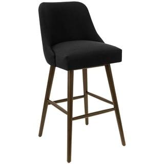 Skyline Furniture Linen Upholstered Rounded Back Bar Stool