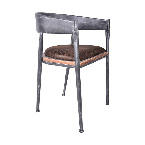 metal dining room chair | Shop Detti Industrial Metal Dining Chair in Silver Brushed ...
