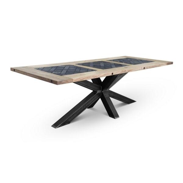 ADLER Crue Dining Table - Natural Oak/Dark Oak/Black. Opens flyout.