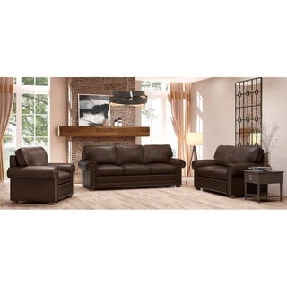 Made to Order Mondial 100% Top Grain Leather Sofa, Loveseat and Chair Set