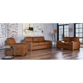 Made to Order Maxim 100% Top Grain Leather Sofa, Loveseat and Chair Set