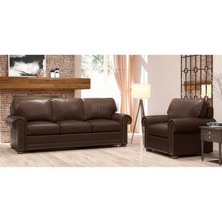 Made to Order Mondial 100% Top Grain Leather Sofa and Chair Set
