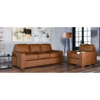 Made to Order Maxim 100% Top Grain Leather Sofa and Chair Set