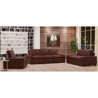 Made to Order Monza 100% Top Grain Leather Sofa, Loveseat and Chair Set