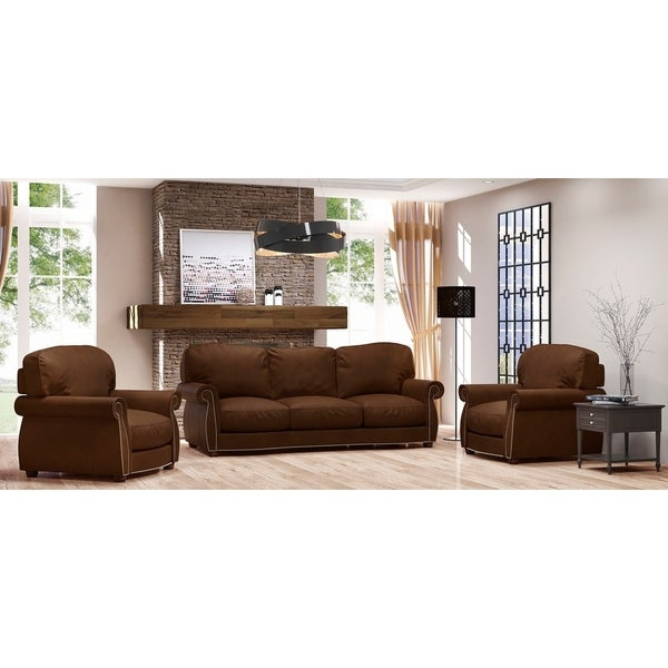 Shop Made To Order Roxton 100 Top Grain Leather Sofa And