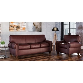 Made to Order Roma 100% Top Grain Leather Sofa and Chair Set