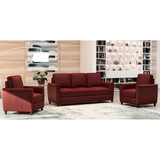 Made to Order Esther 100% Top Grain Leather Sofa and Two Chairs Set
