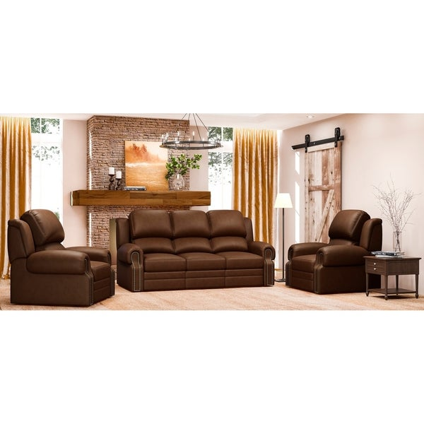 Sofa And Two Chairs For Sale: Shop Made To Order Tours 100% Top Grain Leather Recliner