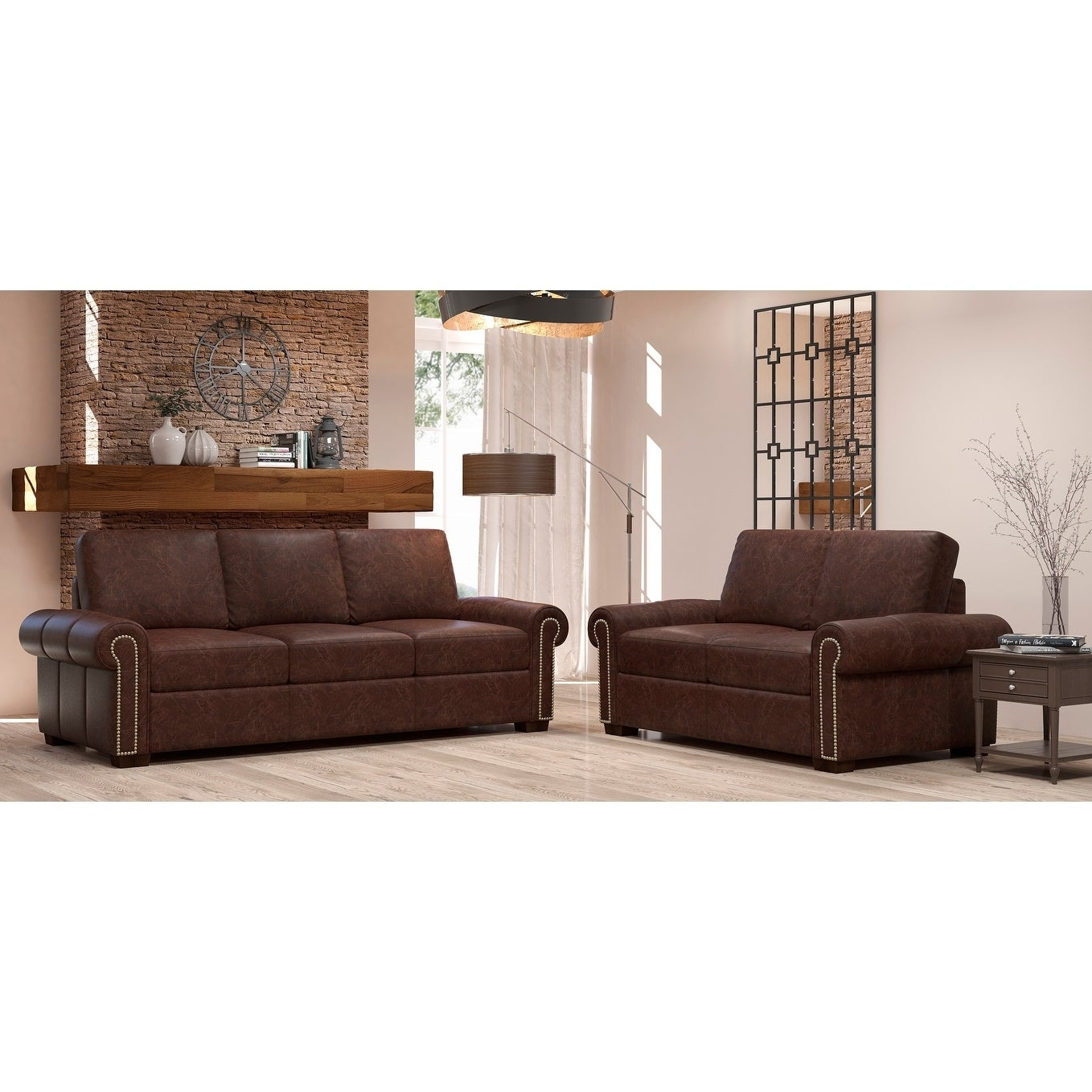 Awe Inspiring Made To Order Colchester 100 Top Grain Leather Sofa And Loveseat Set Cjindustries Chair Design For Home Cjindustriesco