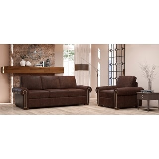 Made to Order Colchester 100% Top Grain Leather Sofa and Chair Set