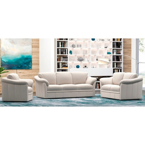 Made to Order Marino 100% Top Grain Leather Sofa, Loveseat and Chair Set