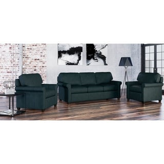 Made to Order Asti 100% Top Grain Leather Sofa and Two Chairs Set