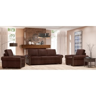 Made to Order Colchester 100% Top Grain Leather Sofa and Two Chairs Set