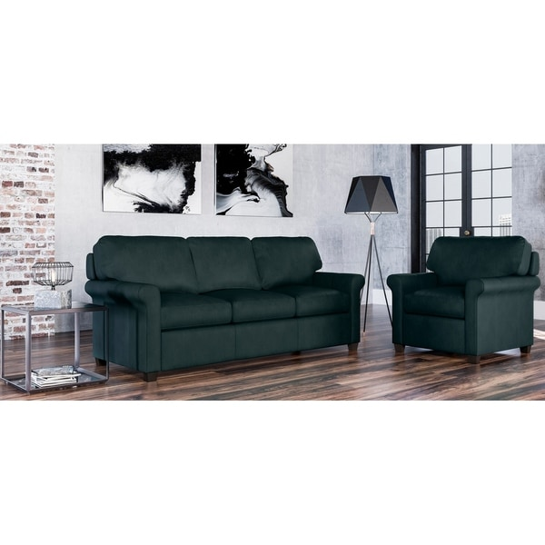 Made to Order Asti 100% Top Grain Leather Sofa and Chair Set