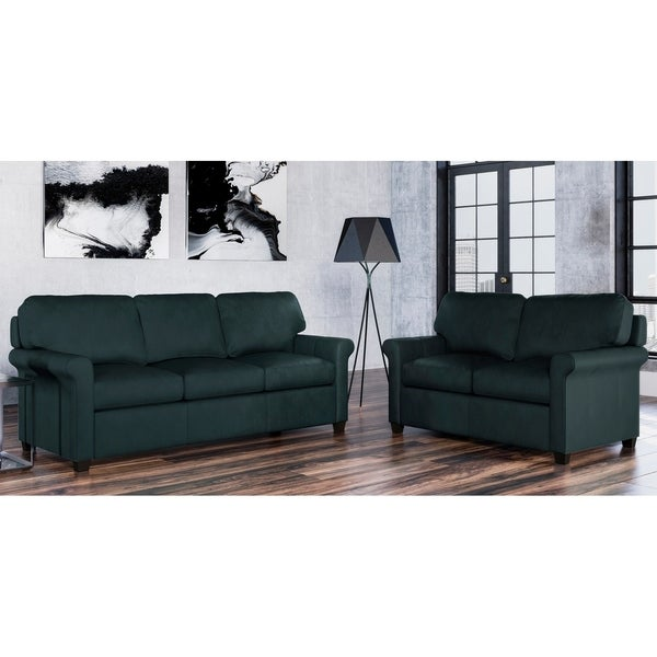Made to Order Asti 100% Top Grain Leather Sofa and Loveseat Set