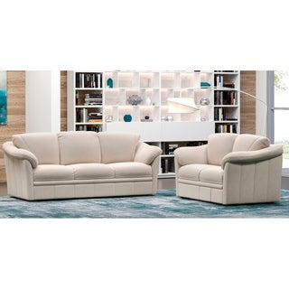 Made to Order Marino 100% Top Grain Leather Sofa and Loveseat Set