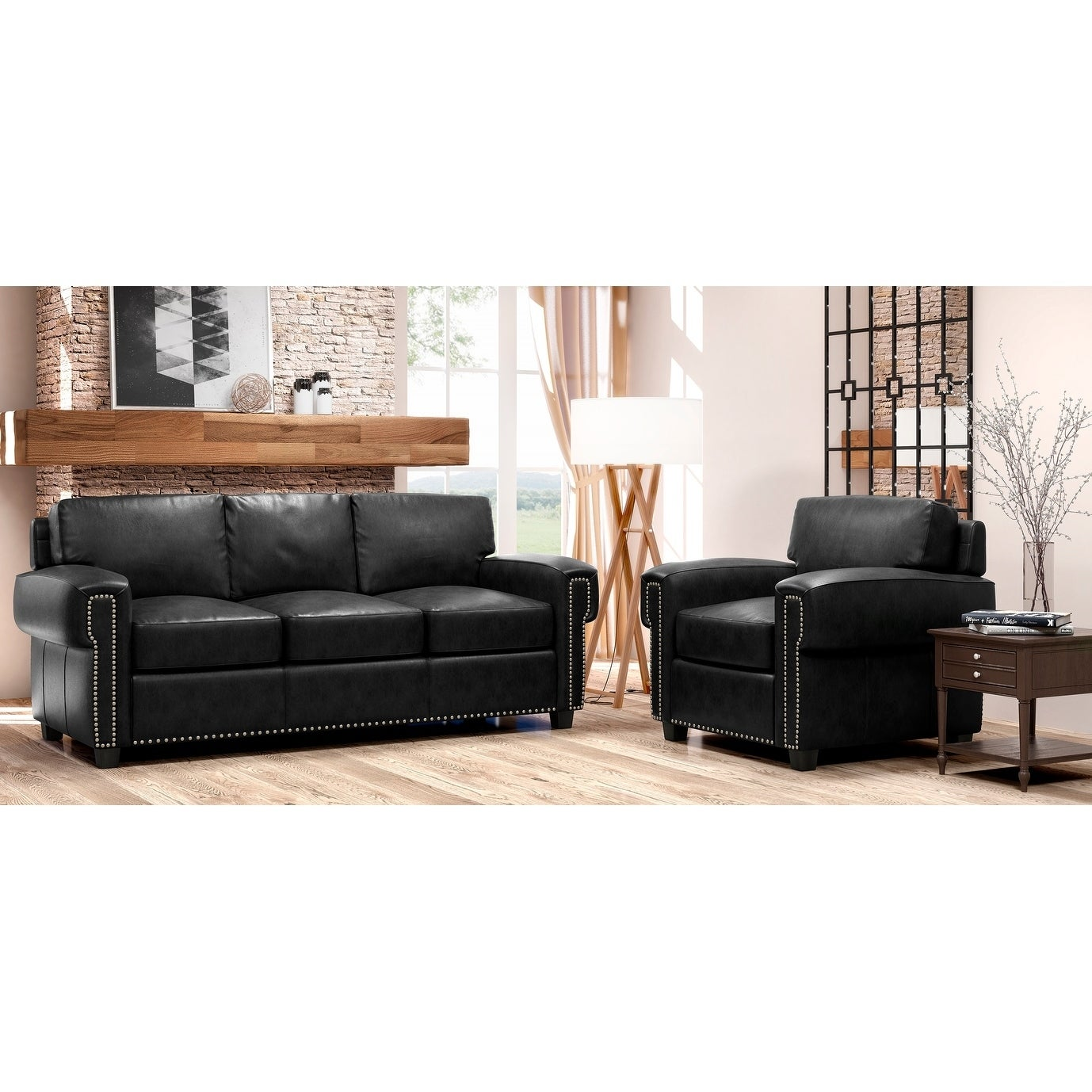 Terrific Made To Order Como 100 Top Grain Leather Sofa And Chair Set Ncnpc Chair Design For Home Ncnpcorg