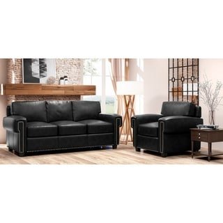 Made to Order Como 100% Top Grain Leather Sofa and Chair Set