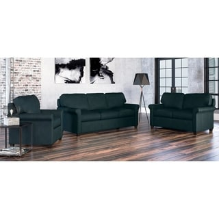 Made to Order Asti 100% Top Grain Leather Sofa, Loveseat and Chair Set