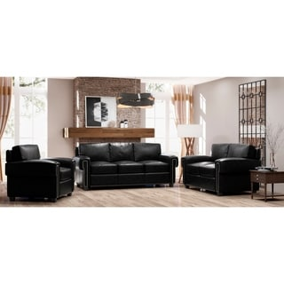 Made to Order Como 100% Top Grain Leather Sofa, Loveseat and Chair Set