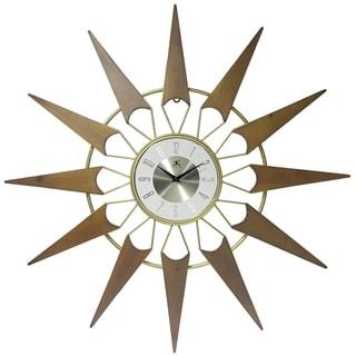 Nova Starburst Mid-Century Modern 31 inch Large Wall Clock by Infinity Instruments
