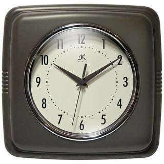 Square Retro 50s Kitchen 9 inch Small Wall Clock by Infinity Instruments - N/A