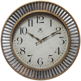 Ruche Rustic Industrial 16 inch Wall Clock by Infinity Instruments