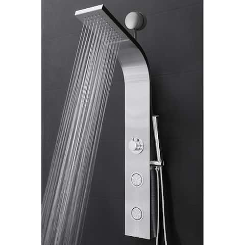 "AKDY 39"" Easy Connect Stainless Steel Rainfall Waterfall Multi-Function Shower Panel"