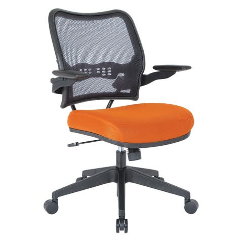 Office Star Space Seating Deluxe Chair with AirGrid® Back and Orange Mesh Seat