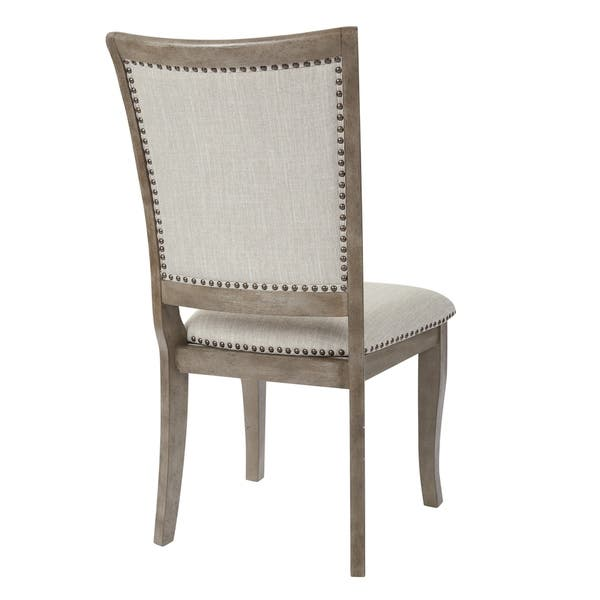 Osp Home Furnishings Alba Antique White Dining Chair Set Of 2 As Is Item Overstock 29197034